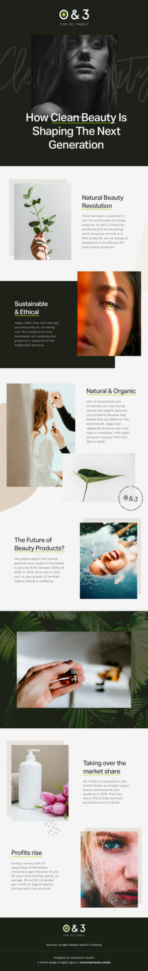 O&3 Clean Beauty Infographic